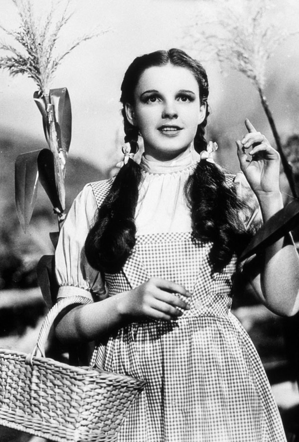 Judy Garland in The Wizard of Oz, 1939