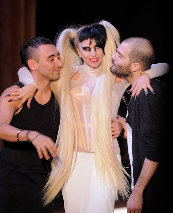 Lady Gaga at Thierry Mugler Autumn/Winter 2011