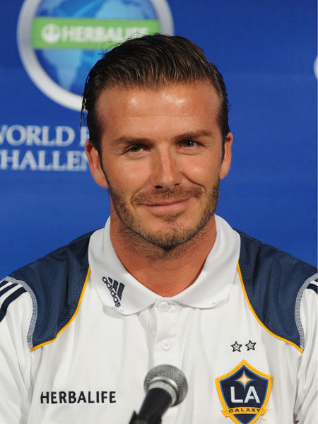David Beckham - longer hair