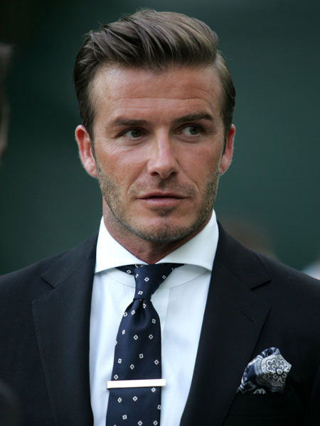 David Beckham - side parting