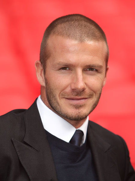 David Beckham - shaved hair