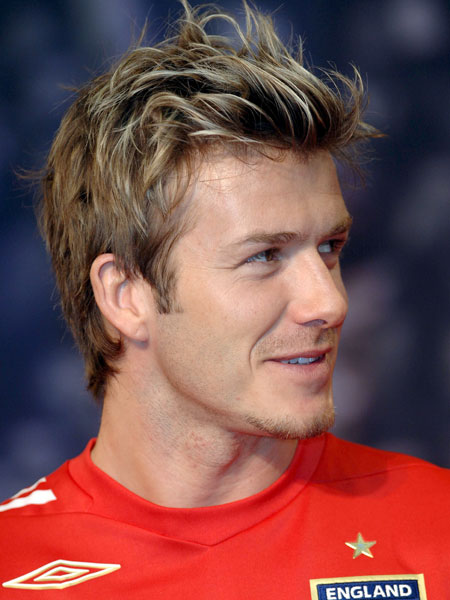 David Beckham - highlighted quiff