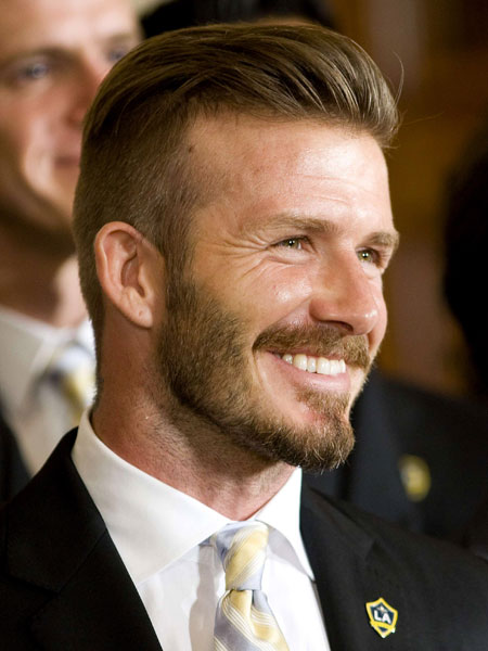 David Beckham - undercut hair